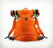 Travel backpack, orange