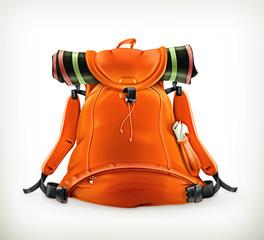 Travel backpack, orange