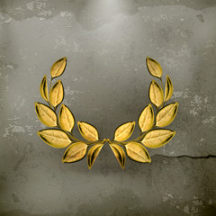 Laurel wreath, award old style