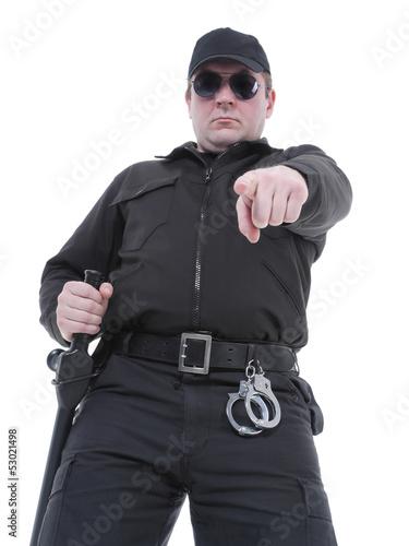 Ordering policeman