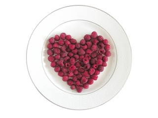 sweet raspberry heart