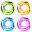 Abstract shiny vector circles