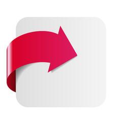 Flèche rouge et cadre