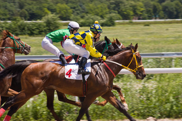 Horse racing in Pyatigorsk.