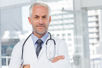 Doctor with stethoscope around his neck