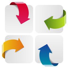 Flèche quatre couleurs