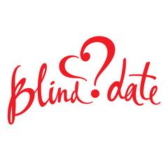 Blind Date love affair secret surprise heart concept