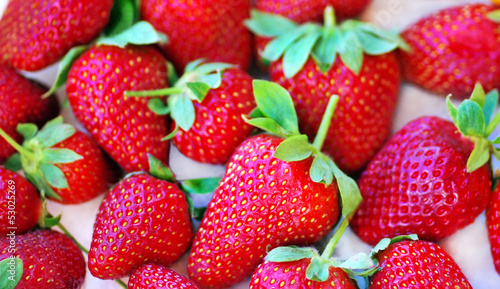 fresh strawberry on the clean  white background