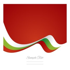 Abstract Bulgarian flag ribbon vector
