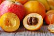 Half of ripe loquat medlar