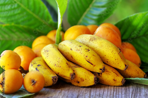 Portuguese bananas and loquats