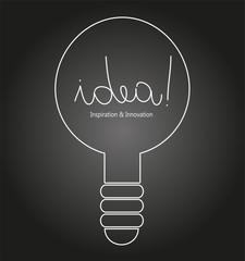 illustrazione di lampadina che rappresenta il concetto di idea