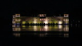 jal mahal palace on lake in Jaipur India at night
