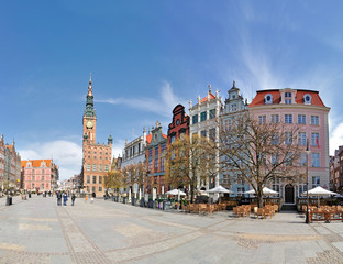 Old town of Gdansk -Stitched Panorama