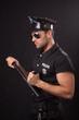 Policeman in sunglasses