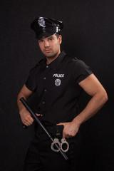Standing policeman
