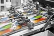 Close up of an offset printing machine during production - 53029092