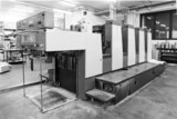 Offset printing machine inside a press industry