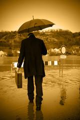 Hochwasser nach schlechtem Wetter