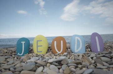Jeudi, fourth day of the week