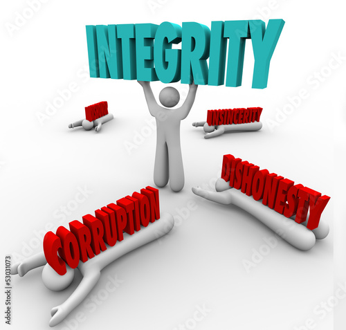 Integrity Person Lifting Word Competitive Advantage Best Leader