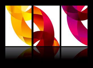vector abstract background set EPS10