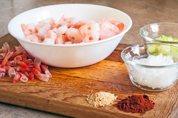 Making Shrimp Creole