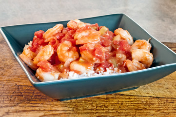 Shrimp Creole Served on Rice