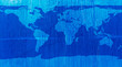 World map blue texture