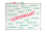 Copyright word cloud