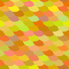 Colorful fish or snake scale seamless pattern in green, orange