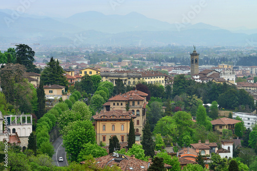 View to the Bergamo city, Italy