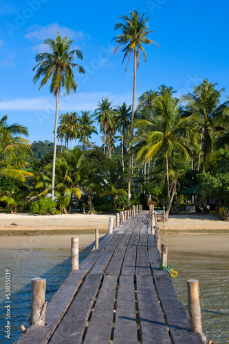 Fototapeta Beautiful tropical beach