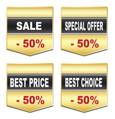 Labels - best price,sale, choice,offer