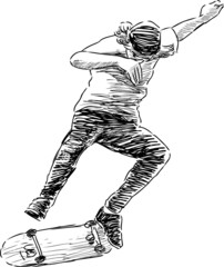 jumping skateboarder