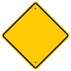 Diamond Shape Warning Sign