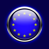 icon European Union. EU flag button