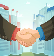Handshake, business illustration