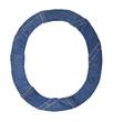 Jeans alphabet on white  letter O