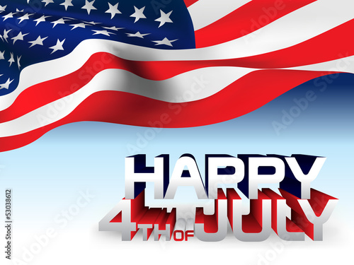 USA flag Happy 4th of July Vector