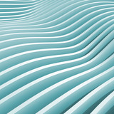 Abstract blue monochrome 3d wave background - 53039064