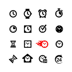 Set 16 clock icons