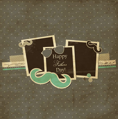 Father's Day card, mustache and sunglasses scrap card