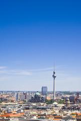Fernsehturm television tower, Berlin views, Germany