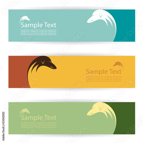 Vector image of an dog banners .