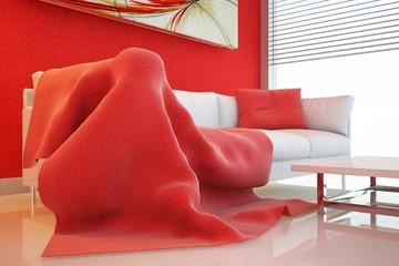 divano coperta lato