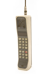 Isolated Old and Dirty Cellphone