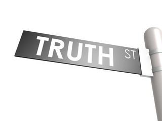 Truth street sign