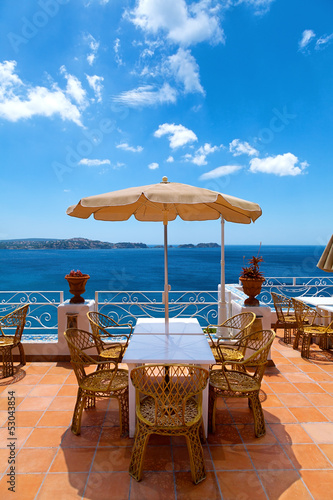 Scenic Terrace in the Mediterranean Sea
