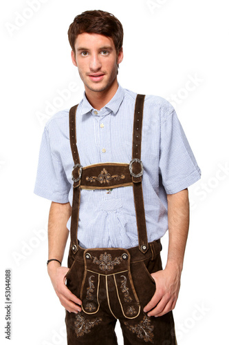 Mann in Lederhosn